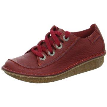 Clarks Komfort Schnürschuh rot