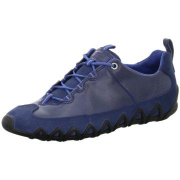 Ecco Komfort Schnürschuh blau