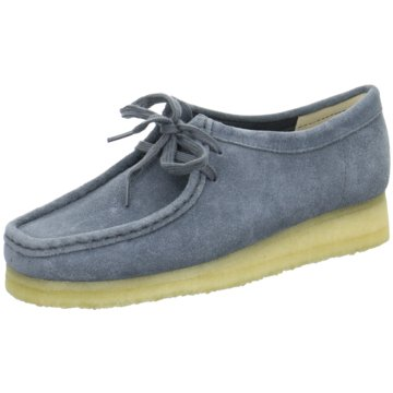 Clarks Mokassin Schnürschuh blau