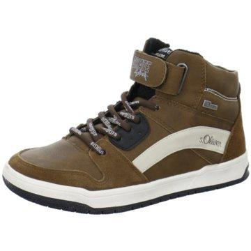 s.Oliver Sneaker High braun