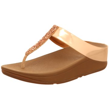 Fit Flop Zehentrenner gold