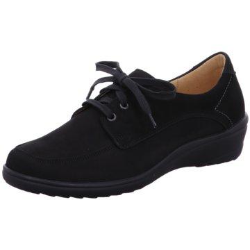 Ganter Komfort Schnürschuh schwarz