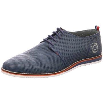 Bugatti Klassischer Schnürschuh blau