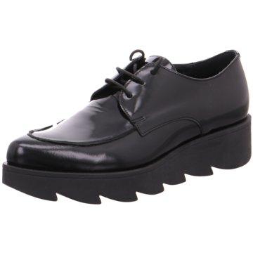 Lazamani Modische Schnürschuhe schwarz