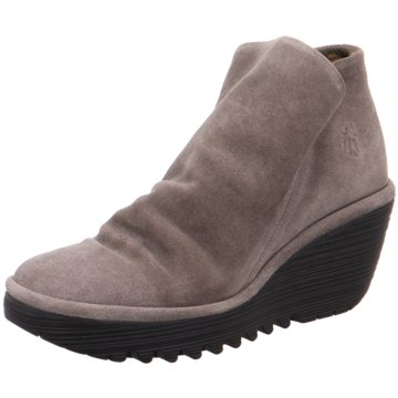 Fly London Keilstiefelette grau