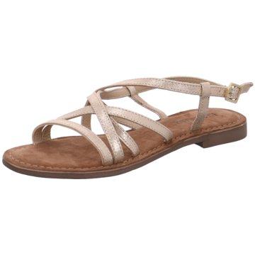 Lazamani Modische Sandaletten gold
