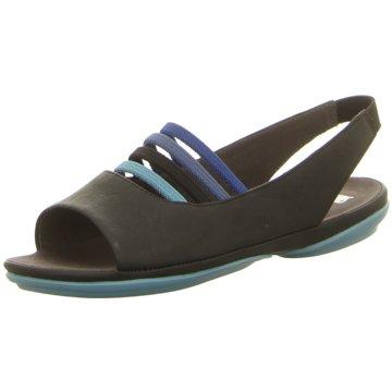 Camper Komfort Sandale schwarz
