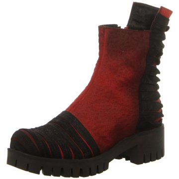 Papucei Plateau Stiefelette rot