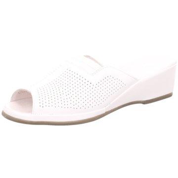 Manz-Fortuna Komfort Pantolette weiß