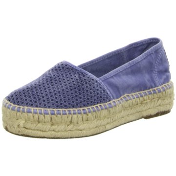 Natural World Eco Espadrille blau