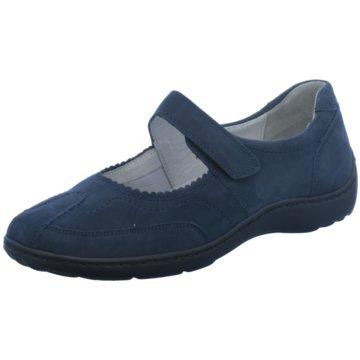 Waldläufer Komfort Slipper blau