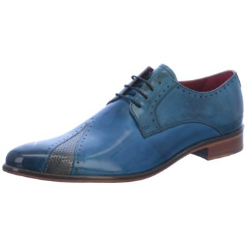 Melvin & Hamilton Eleganter Schnürschuh blau