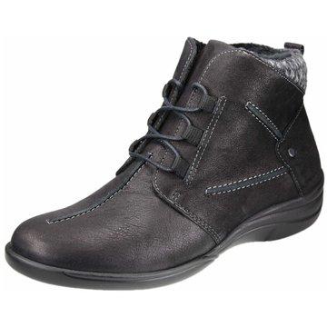 Aco Komfort Schnürschuh schwarz