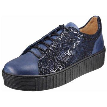 Dessy Sportlicher Schnürschuh blau