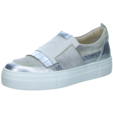 Donna Carolina Modische Slipper silber