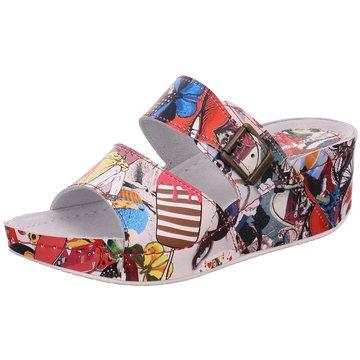 Dr. Feet Komfort Pantolette bunt