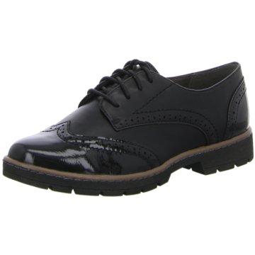 Soft Line Eleganter Schnürschuh schwarz