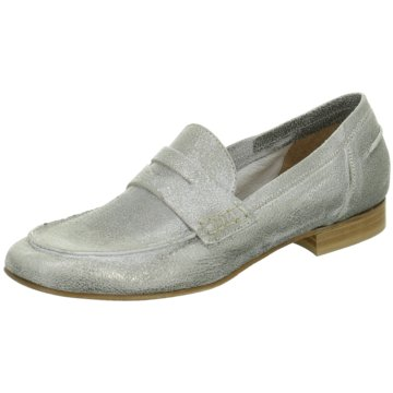 Ladyshoes Mokassin Slipper silber