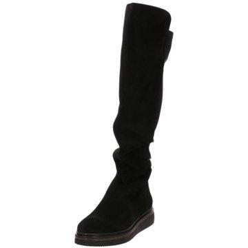 Alpe Woman Shoes Overknee Stiefel schwarz