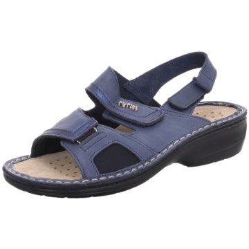 Fly Flot Komfort Sandale blau