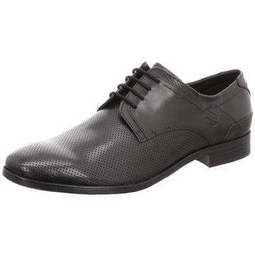 Bugatti Eleganter Schnürschuh schwarz