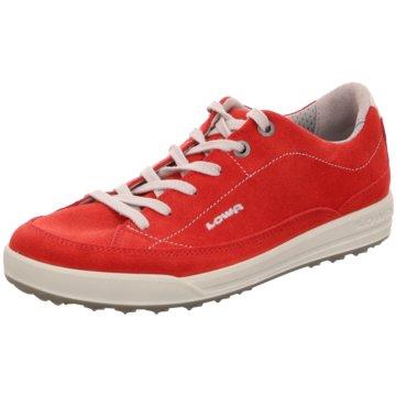 LOWA Sportlicher Schnürschuh rot