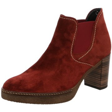 Gabor Plateau Stiefelette rot