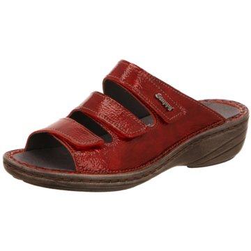 Stuppy Komfort Pantolette rot