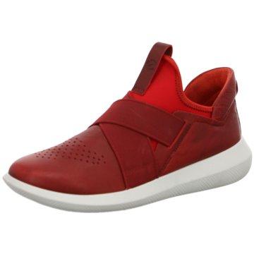 Ecco Sportlicher Slipper rot