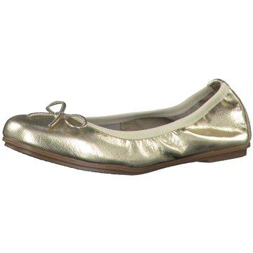 Marco Tozzi Faltbarer Ballerina gold