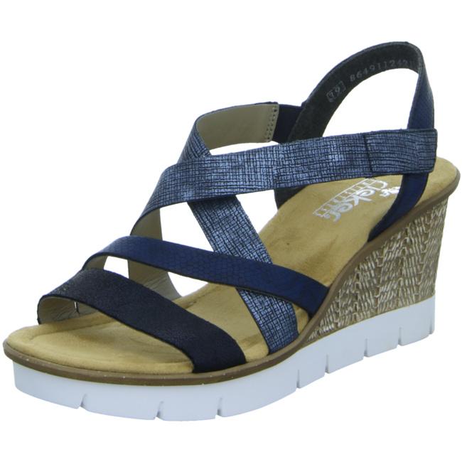 Sonstige Sandale Rieker Keilsandaletten Blau Von Kombi 14 65571 3L4jqcR5A