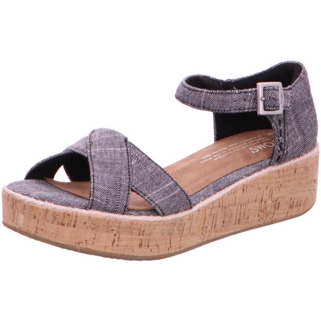 10011846 Sandaletten Toms Wei 001 Plateau Schwarz Harper Von 8Xn0wPNOk