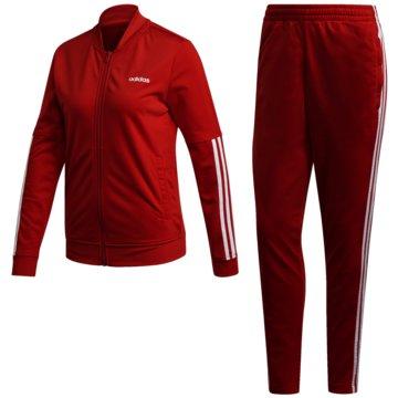 adidas TrainingsanzügeBack 2 Basics 3-Streifen Trainingsanzug - FM6848 rot