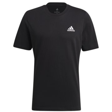 adidas T-ShirtsESSENTIALS EMBROIDERED SMALL LOGO T-SHIRT - GK9639 schwarz