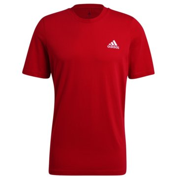 adidas T-ShirtsESSENTIALS EMBROIDERED SMALL LOGO T-SHIRT - GK9642 rot