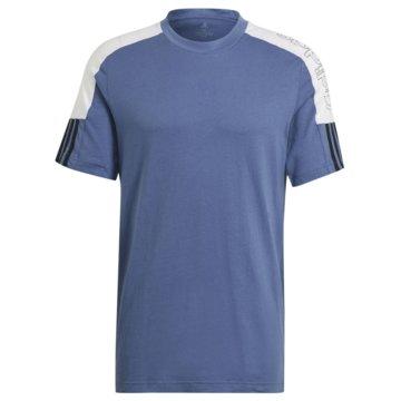 adidas T-ShirtsESSENTIALS LOGO COLORBLOCK T-SHIRT - GK9772 blau