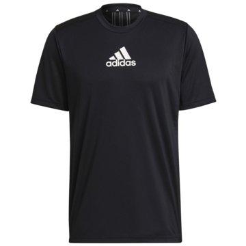 adidas T-ShirtsPRIMEBLUE DESIGNED TO MOVE SPORT 3-STREIFEN T-SHIRT - GM2126 schwarz