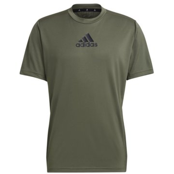 adidas T-ShirtsPRIMEBLUE DESIGNED TO MOVE SPORT 3-STREIFEN T-SHIRT - GM2131 grün