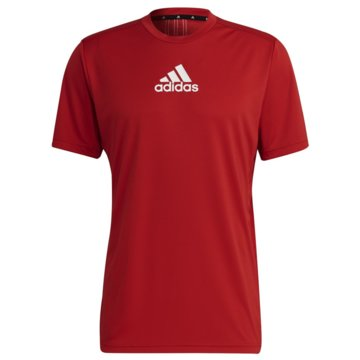 adidas T-ShirtsPRIMEBLUE DESIGNED TO MOVE SPORT 3-STREIFEN T-SHIRT - GM4318 rot