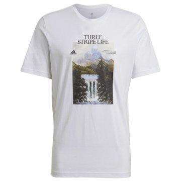 adidas T-ShirtsATHLETICS GRAPHIC T-SHIRT - GN6851 weiß