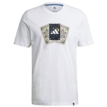 adidas T-ShirtsTAROT BADGE OF SPORT GRAPHIC T-SHIRT - GN8179 weiß