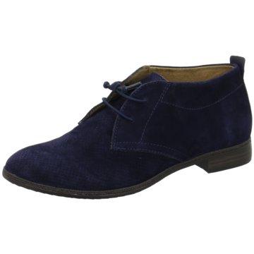 Tamaris Eleganter Schnürschuh1-1-25101-26 blau
