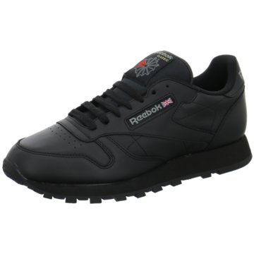 Reebok FreizeitschuhClassic Leather Herren Sneaker schwarz schwarz