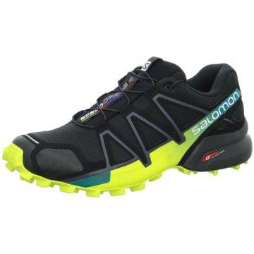 Salomon TrailrunningSpeedcross 4 Herren Laufschuhe Trail-Running schwarz schwarz