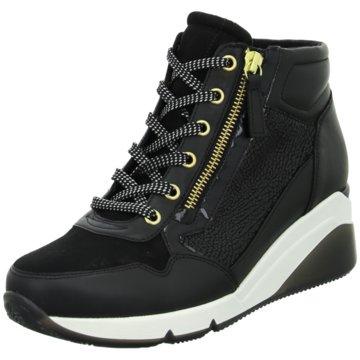 Gabor Sneaker Wedges schwarz