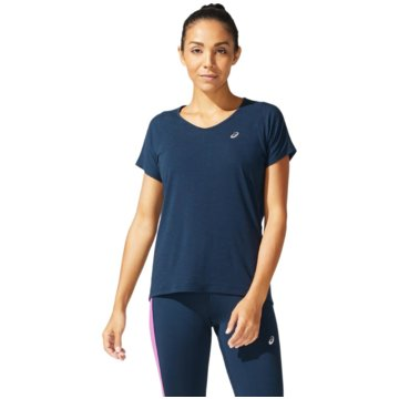 asics T-ShirtsV-NECK SS TOP - 2012A981-402 blau