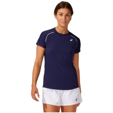 asics T-ShirtsCOURT W PIPING SS - 2042A157-400 blau