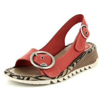 Fly London Keilsandalette rot