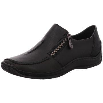 Rieker Komfort Slipper schwarz
