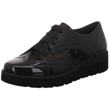 Gabor Eleganter SchnürschuhSneaker schwarz